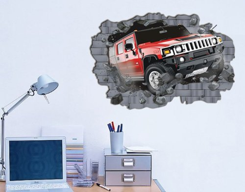 PeelCo Giant Hummer Car Wall Decal Sticker Decor Boys Room - 1