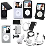 TsirTech 15 Piece iPod classic, Accessory Bundle compatible with iPod Classic 120GB and New 7th Gen 160GB