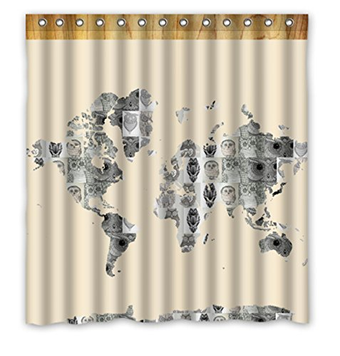 World maps buy world maps products online in oman muscat seeb custom polyester shower curtain 66 x 72 world maps painted gumiabroncs Image collections