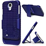 i-BLASON Transformer Hard Shell Case Holster Combo For Samsung Galaxy S4 i9500 with Kickstand and Locking Belt Swivel Clip 4G LTE (Fits AT&T, Sprint, Verizon, T-Mobile) Manufactured by i-Blason (Blue)