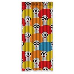 50x108 Wonderful Home Fashion Window Drape (One Piece) with Wearing Glasses Pattern