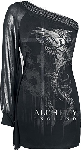 Alchemy England Ophidalia Manica lunga donna nero XL