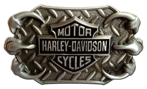 Harley-Davidson Logo with Eagle Talons Die Cast Belt Buckle