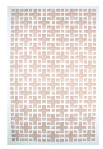 Acurio Chinese 1 White Vinyl Lattice Decorative Privacy Panel (Lattice Panels compare prices)