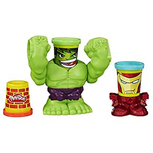 Play Doh Smashdown Hulk Featuring Marvel Can Heads