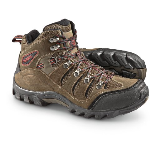 Nevados Men's Basque Mid V1187M Hiking Boot,Chocolate Chip/Black/Ginger Red,11 M US
