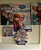 Disney Frozen Activity Set & Jewelry & Hair Gift Pack Bundle Plus Frozen 6 Piece Mealtime Set
