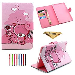 iPad Air Case, Alugs Fashion Cute Synthetic Leather Flip Holder Case Cover for Apple iPad Air(iPad 5)--Little Bear