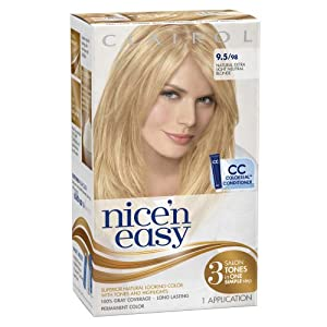 Clairol Nice 'n Easy 9.5 98 Natural Extra Light Neutral Blonde 1 Kit (Pack of 3) (packaging may vary)