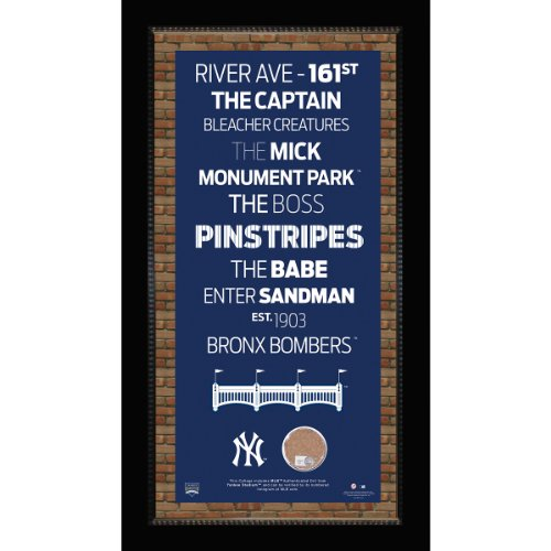 MLB New York Yankees Subway Sign Wall Art with Authentic Dirt from Yankee Stadium, 9.5x19-Inch (Yankee Stadium Model compare prices)