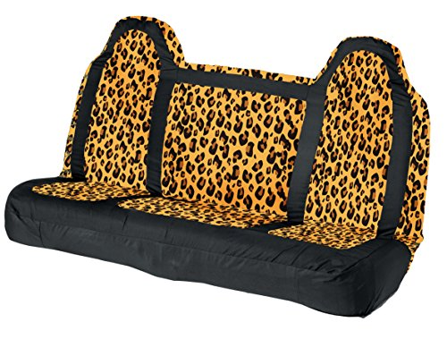 Leader Accessories Leopard Bench Truck Seat Cover Rear