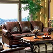 Hot Sale Classic Tri Tone Leather Sofa