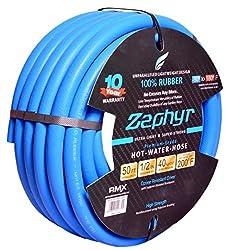 Zephyr Next-Gen Rubber Garden Hose - Ultra-Light yet Super-Strong - 1/2