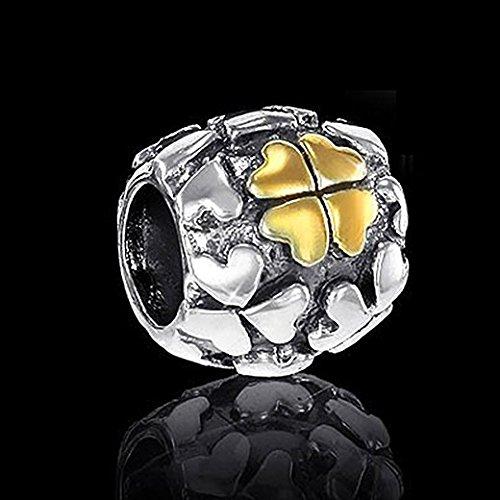 Materia perles dor argent tr fle porte bonheur en argent sterling 925 plaqu or 14 k 749 pour - Porte bonheur argent richesse ...