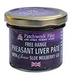 Patchwork Pâté British Free Range Pheasant Liver with Chase Mulberry Sloe Gin (Limited Edition) 90 g (Pack of 2)