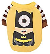 Woo Woo Pets Cute Funny Minions Batman Warm Dog Puppy Coat Dog Shirt Yellow XS
