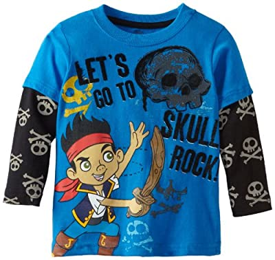 Disney Boys 2-7 1 Piece Lets Go To Skill Rock Long Sleeve Pullover by Disney
