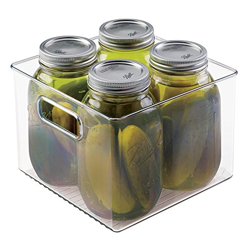 mDesign Mason Canning Jar Storage Bin, Holds Four 32 oz. Quart Jars - Clear (Qt Canning Jars compare prices)