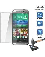 TheBlingZ.® Vitre Protection Protecteur d'Écran Film de protection en Verre Trempé pour HTC One M7