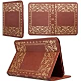KHOMO � Brown Book Style Leather Case for Amazon Kindle Fire HD 8.9 inches