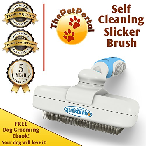Pro Quality Self Cleaning Slicker Brush For Dogs And Cats
