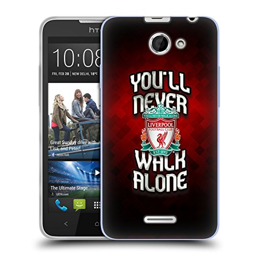 Ufficiale Liverpool Football Club Rosso Pixel Crest YNWA Cover Morbida In Gel Per HTC Desire 516 / 516 Dual Sim
