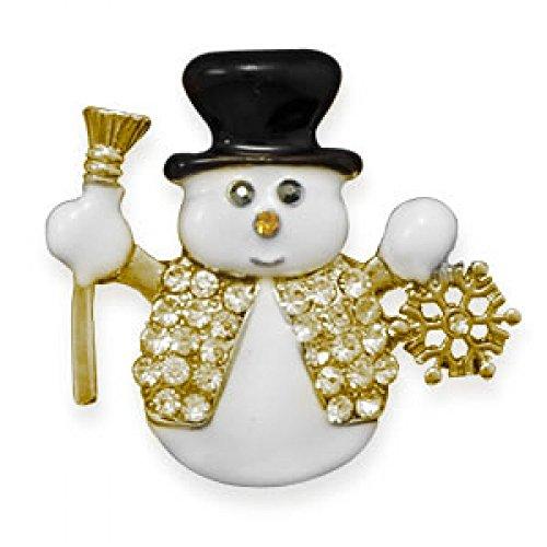 Crystal Snowman Fashion Lapel Pin