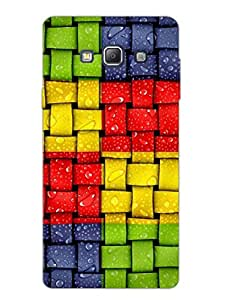 Justgirlythings Colorful Woven Pattern Hard Back Case Cover For Samsung A7 Matte Finish