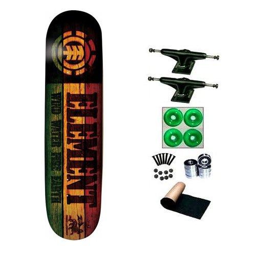 Element Rasta Branded 7.25 Skateboard Complete
