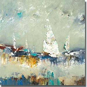 Sailing Away by Lisa Ridgers Premium Stretched Canvas (Ready to Hang)