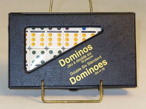 Double 6 Domino Action Game, White - 1