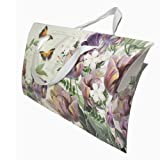 Enwraps Curved Flower Print Small Paper Bags