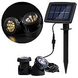 Lixada Solarspots Unterwasserstrahler 12 LEDs Licht Sensor für Pool Teich Yard