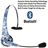 VicTsing Over the Head Wireless Bluetooth Headphones Headset With Flexible Boom Mic with Noise Cancellation Technology, Support Handsfree Calling For iPhone 6, 6 Plus, iPhone 5, 5S 5C, iPad 4, iPad Mini, iPad air, iPod, Macbook iMac, Nokia Lumia 920, Samsung Galaxy S5, Galaxy S4, Note 4, Note 3, HTC One M7 M8, Google Nexus, Sony Xperia Z2 Z1 L39H, Xperia Z Ultra XL39h, Laptop PC Skype, MSN, Mp3 player - Blue