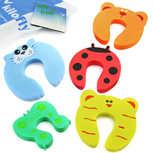 KF Baby Finger Pinch Guard [Set of 5], with kilofly Refrigerator Magnet