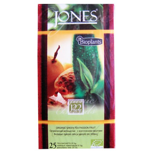 Bioplants Jones Green Tea Passion Fruit (Pack of 1, Total 25 Teabags)