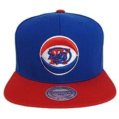 New Jersey Nets Retro Mitchell & Ness Logo Snapback Cap Hat