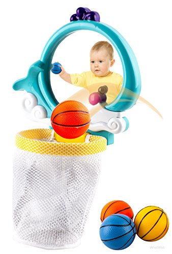 WolVol-Fun-Bath-Tub-Basketball-Playset-with-Viewing-Mirror-and-3-Colorful-Balls