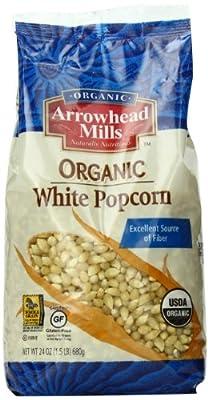 Arrowhead Mills Organic White Popcorn, 24 Ounce (Pack of 6) by Arrowhead Mills