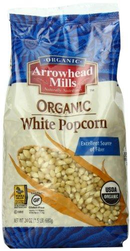 Arrowhead Mills Organic White Popcorn, 24 Ounce (Pack of 6)