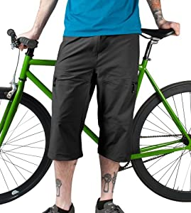 Mens Bicycle Commuter Pedal Pusher Capris by Aero Tech Designs