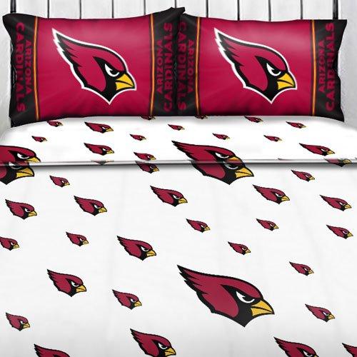 Nfl Arizona Cardinals Logo Full Sheets - 4Pc Football Bedding Full-Double Bed front-502471