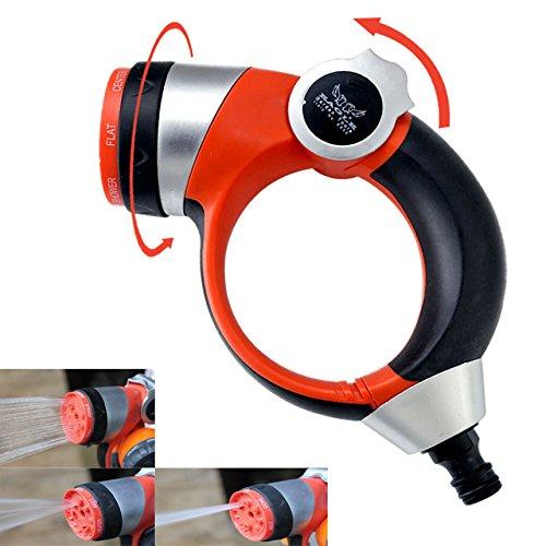 Bargain World 7 pulvérisation poignée de fonction poussoir jet réglable buse jardin haute pression pulvérisateur d'arrosage
