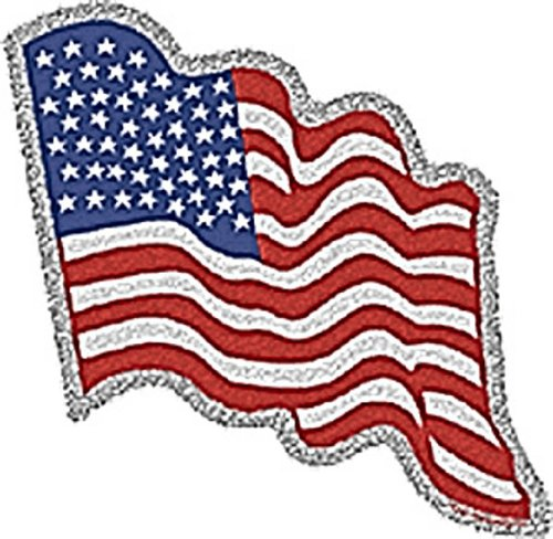 Licenses Products American Flag Glitter Sticker