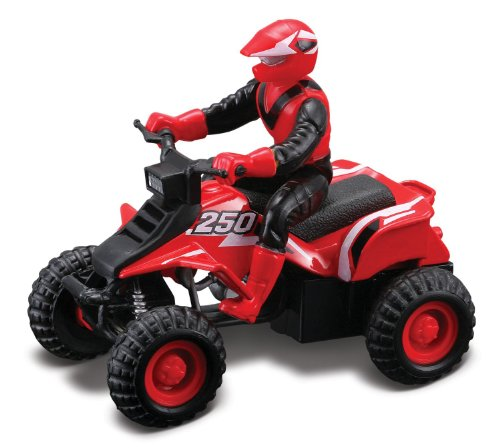 Maisto Racing #250 (Red) * Off-Road Series Motorized ATV * 2010 Maisto ATV's Fresh Metal Pull-Back Motor Die-Cast Vehicle