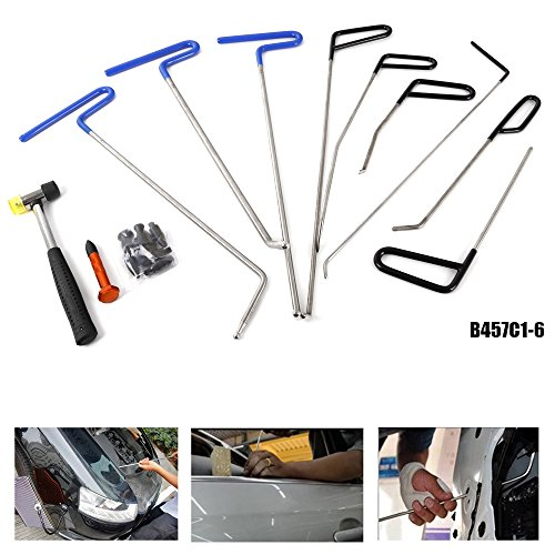 WHDZ 9PCS PDR Rods - Perfect for Door Dings, Hail Repair and Dent Removal - PDR Tools Kit, Dent Hammer Tap Down