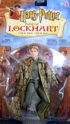 Picture of Mattel Harry Potter Dueling Club LOCKHART Figure Set w Collectible HOLO-TILE (2002 Multi-Lingual Package) (B003VKX5BC) (Harry Potter Action Figures)