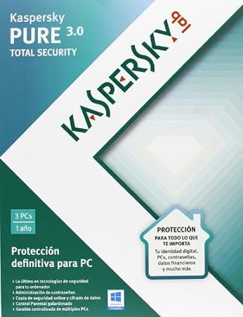 Kaspersky Pure - Paquete De Suscripción, Español, 3 PCs, Para 1 Año