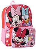 Disney Little Girls'  Minnie Mouse and Daisy Backpack with Lunch