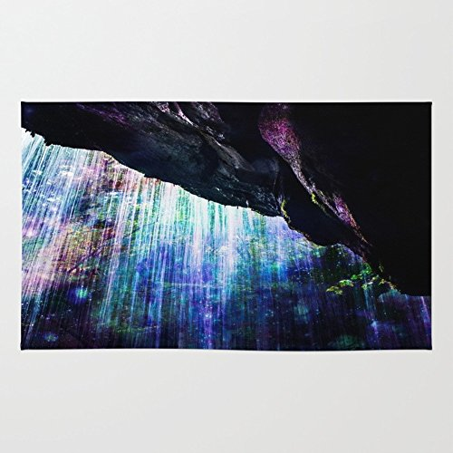 Society6 Enchanted Waterfall. Rug 4' x 6'
